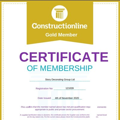 Constructionline Gold certificate